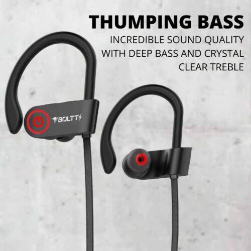 Fire Boltt Echo 1300 Bluetooth Earphone Wireless Neckband in Ear Headset with HD Calling Rich Bass Black 8