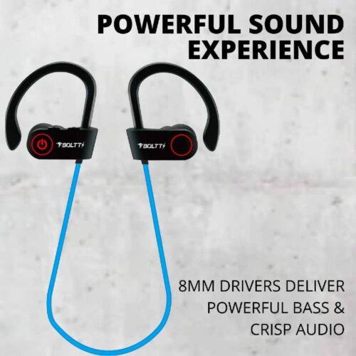 Fire Boltt Echo 1300 Bluetooth Earphone Wireless Neckband in Ear Headset with HD Calling Rich Bass Blue 1