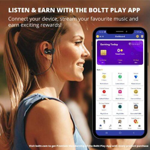 Fire Boltt Echo 1300 Bluetooth Earphone Wireless Neckband in Ear Headset with HD Calling Rich Bass Blue 2