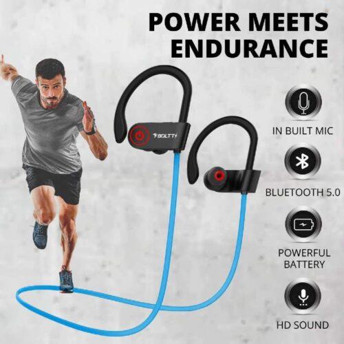 Fire Boltt Echo 1300 Bluetooth Earphone Wireless Neckband in Ear Headset with HD Calling Rich Bass Blue 4