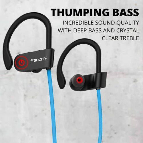 Fire Boltt Echo 1300 Bluetooth Earphone Wireless Neckband in Ear Headset with HD Calling Rich Bass Blue 5