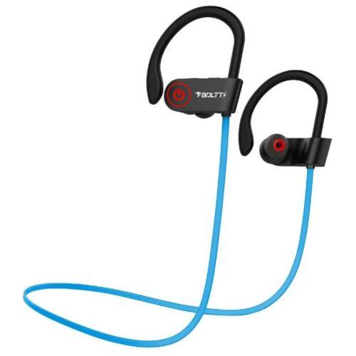 Fire Boltt Echo 1300 Bluetooth Earphone Wireless Neckband in Ear Headset with HD Calling Rich Bass Blue