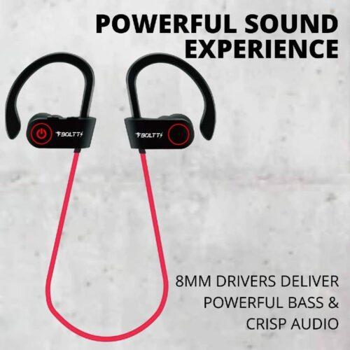 Fire Boltt Echo 1300 Bluetooth Earphone Wireless Neckband in Ear Headset with HD Calling Rich Bass Red 1