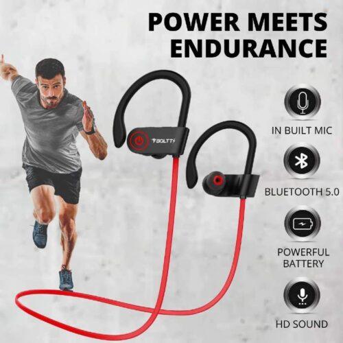 Fire Boltt Echo 1300 Bluetooth Earphone Wireless Neckband in Ear Headset with HD Calling Rich Bass Red 3