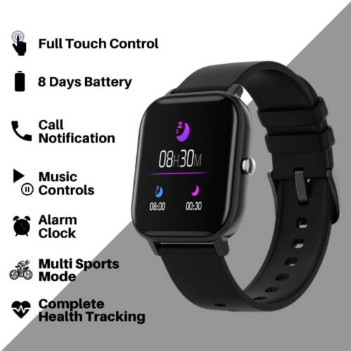 Fire Boltt Full Touch Smart Watch with SPO2 Heart Rate BP Fitness and Sports Tracking 14 inch high Resolution Display 4