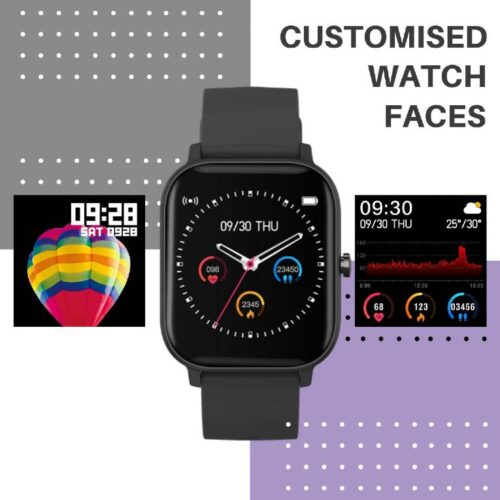 Fire Boltt Full Touch Smart Watch with SPO2 Heart Rate BP Fitness and Sports Tracking 14 inch high Resolution Display 8