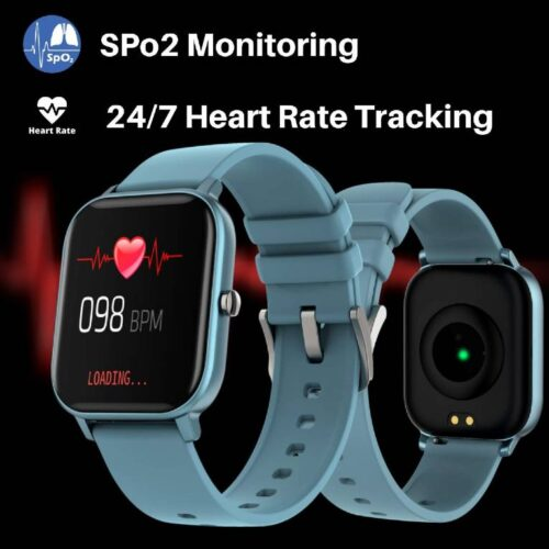Fire Boltt Full Touch Smart Watch with SPO2 Heart Rate BP Fitness and Sports Tracking 14 inch high Resolution Display Blue 2