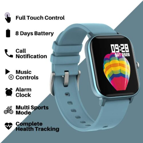 Fire Boltt Full Touch Smart Watch with SPO2 Heart Rate BP Fitness and Sports Tracking 14 inch high Resolution Display Blue 3