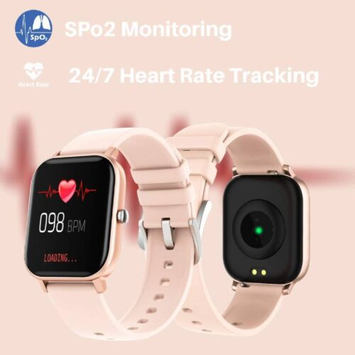 Fire Boltt Full Touch Smart Watch with SPO2 Heart Rate BP Fitness and Sports Tracking 14 inch high Resolution Display Gold 2
