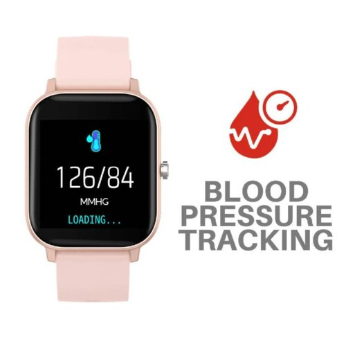 Fire Boltt Full Touch Smart Watch with SPO2 Heart Rate BP Fitness and Sports Tracking 14 inch high Resolution Display Gold 5
