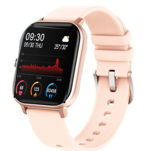 Fire Boltt Full Touch Smart Watch with SPO2 Heart Rate BP Fitness and Sports Tracking 14 inch high Resolution Display Gold
