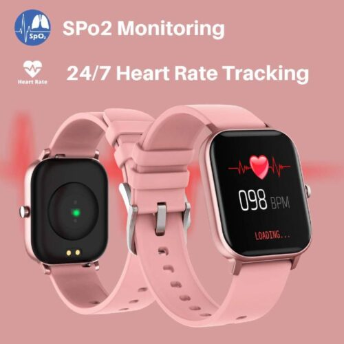 Fire Boltt Full Touch Smart Watch with SPO2 Heart Rate BP Fitness and Sports Tracking 14 inch high Resolution Display Pink 2