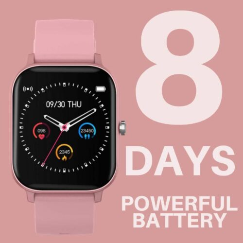 Fire Boltt Full Touch Smart Watch with SPO2 Heart Rate BP Fitness and Sports Tracking 14 inch high Resolution Display Pink 3