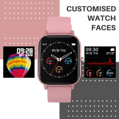 Fire Boltt Full Touch Smart Watch with SPO2 Heart Rate BP Fitness and Sports Tracking 14 inch high Resolution Display Pink 5