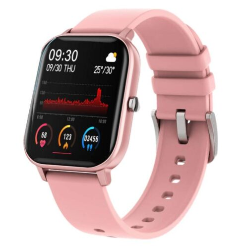 Fire Boltt Full Touch Smart Watch with SPO2 Heart Rate BP Fitness and Sports Tracking 14 inch high Resolution Display Pink