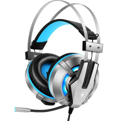 Fire Boltt Gaming Headset for PS4 PC Xbox One Controller Nintendo Switch Gaming Headphone with Adjustable Noise Cancelling Mic LED Light Soft Memory Earmuffs Over Ear Headphone for Gaming