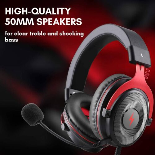 Fire Boltt USB Gaming Headset Xbox One Headset with 7 1 Surround Sound PS4 PS5 Headset Noise Cancelling Headset with Mic LED Light Compatible with PC PS4 PS5 Xbox One Controller Nintendo Switch 1