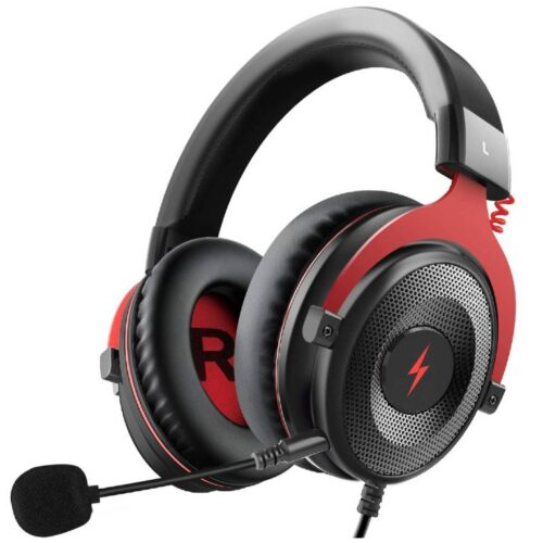 Fire Boltt USB Gaming Headset Xbox One Headset with 7 1 Surround Sound PS4 PS5 Headset Noise Cancelling Headset with Mic LED Light Compatible with PC PS4 PS5 Xbox One Controller Nintendo Switch