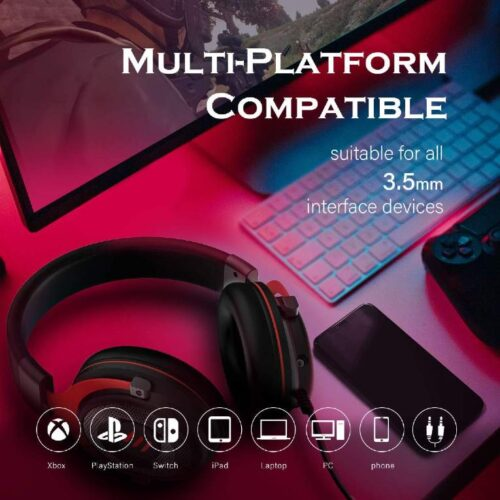 Fire Boltt USB Gaming Headset Xbox One Headset with 7 1 Surround Sound PS4 PS5 Headset Noise Cancelling Headset with Mic LED Light Compatible with PC PS4 PS5 Xbox One Controller Nintendo Switch 8