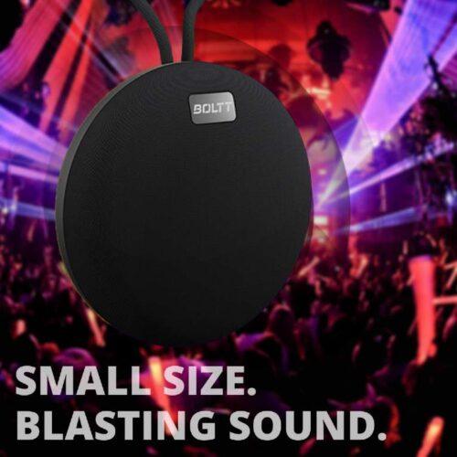 Fire Boltt Xplode 100 Ultra Portable Bluetooth Speaker with 360 HD Surround Sound Deep Explosive Bass IPX7 Waterproof Black 2