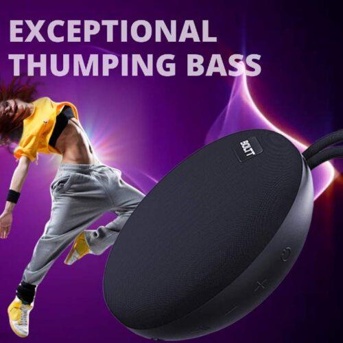 Fire Boltt Xplode 100 Ultra Portable Bluetooth Speaker with 360 HD Surround Sound Deep Explosive Bass IPX7 Waterproof Black 4