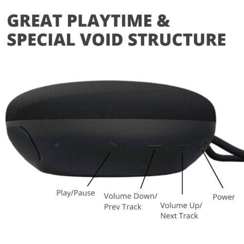 Fire Boltt Xplode 100 Ultra Portable Bluetooth Speaker with 360 HD Surround Sound Deep Explosive Bass IPX7 Waterproof Black 7