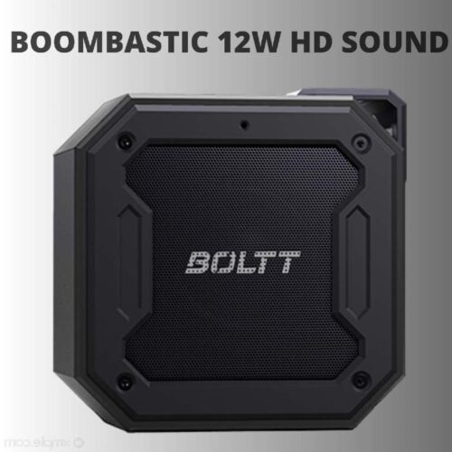 Fire Boltt Xplode 1200 Portable Bluetooth 12W Speaker with Boombastic HD Sound Punch Bass Durable Rugged Waterproof with Long Lasting Playtime 1800mAh Battery Black 1