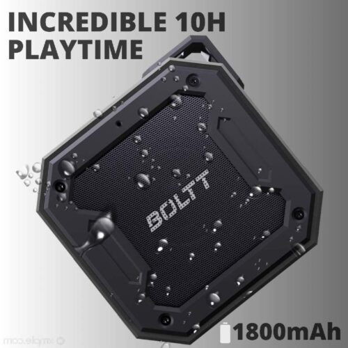 Fire Boltt Xplode 1200 Portable Bluetooth 12W Speaker with Boombastic HD Sound Punch Bass Durable Rugged Waterproof with Long Lasting Playtime 1800mAh Battery Black 3