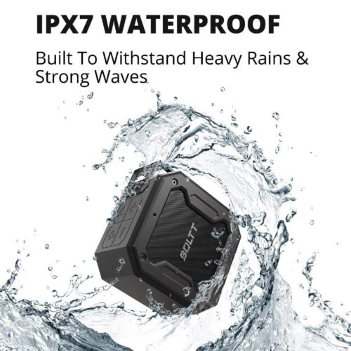 Fire Boltt Xplode 1200 Portable Bluetooth 12W Speaker with Boombastic HD Sound Punch Bass Durable Rugged Waterproof with Long Lasting Playtime 1800mAh Battery Black 5