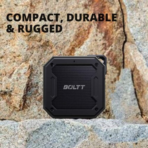 Fire Boltt Xplode 1200 Portable Bluetooth 12W Speaker with Boombastic HD Sound Punch Bass Durable Rugged Waterproof with Long Lasting Playtime 1800mAh Battery Black 7