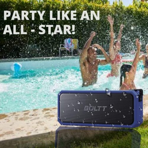 Fire Boltt Xplode 1300 Portable Bluetooth 20W Speaker Monstrous Sound Twin Subwoofers Powerful 3000mAh Battery with 14H Playtime IPX7 Waterproof Blue 5