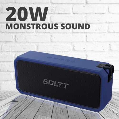 Fire Boltt Xplode 1300 Portable Bluetooth 20W Speaker Monstrous Sound Twin Subwoofers Powerful 3000mAh Battery with 14H Playtime IPX7 Waterproof Blue 9