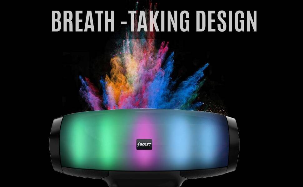 Fire Boltt Xplode 1400 Bluetooth Portable Speaker with Vibrant LightShow 360° Boombastic Surround Sound 1