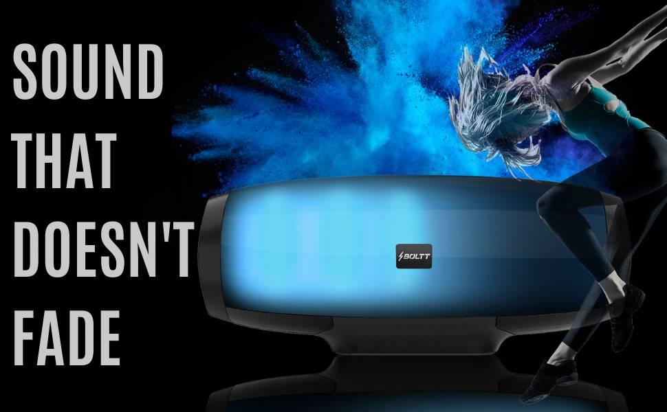 Fire Boltt Xplode 1400 Bluetooth Portable Speaker with Vibrant LightShow 360° Boombastic Surround Sound 2