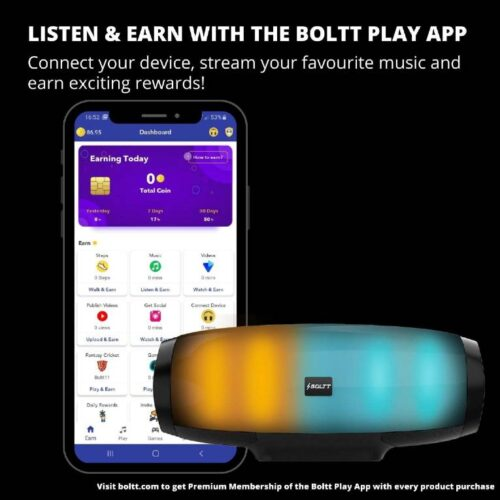 Fire Boltt Xplode 1400 Bluetooth Portable Speaker with Vibrant LightShow 360° Boombastic Surround Sound 8