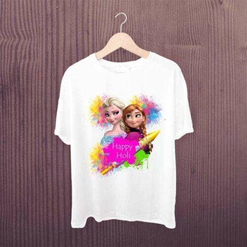 Frozen Elsa Tshirt - Frozen Elsa Happy Holi Kids Tshirt