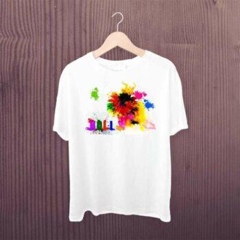 Happy Holi Color Printed Tshirt