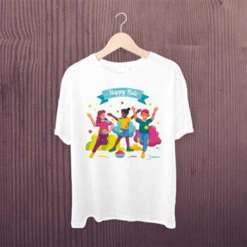 Holi Tshirt for Family (White)