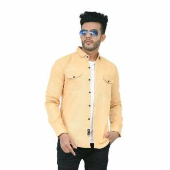 Stylish Elegant Men Shirt (Cream)