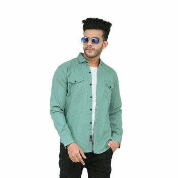 Stylish Elegant Men Shirt (Green)