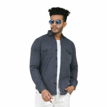 Stylish Elegant Men Shirt (Grey)