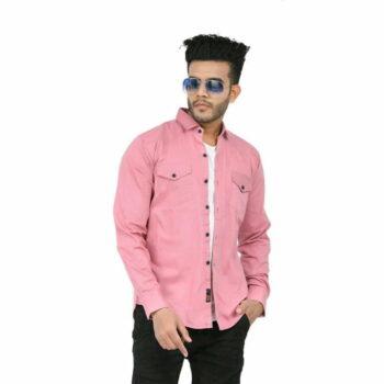 Stylish Elegant Men Shirt (Pink)