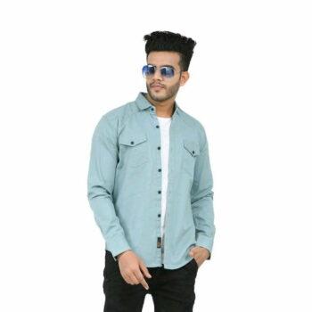 Stylish Elegant Men Shirt (Sky Blue)