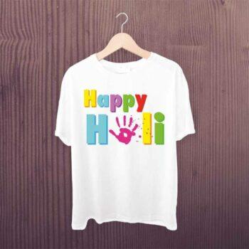Happy Holi Hand Printed Tshirt