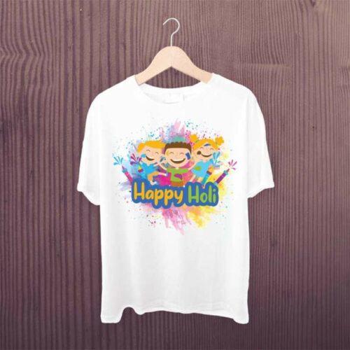 Happy Holi Kids Dancing Tshirt