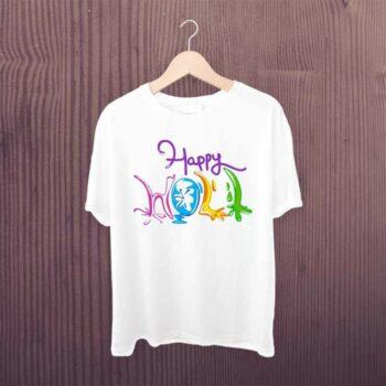 Happy Holi Printed Tshirt for Women, Men, Girls, Boys & Kids