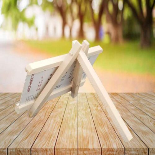 Photo Calendar With Wooden Easel Stand