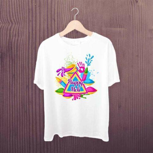 Pichkari Printed Holi Tshirt Colorful Holi