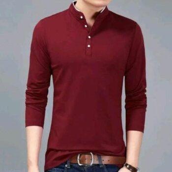 Solid Men Tshirt (Maroon)