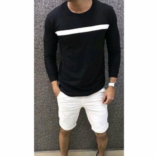 Trendy Elegant Men's Tshirt (Black)